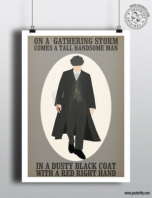 PEAKY BLINDERS - Minimalist TV Poster Wall Art Posteritty Tommy Shelby Gathering