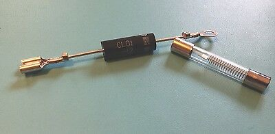 Microwave Oven Diode CL01-12 and High Voltage Fuse 5kV 800mA 0.8A (No heat)
