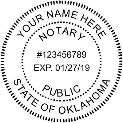 State of Oklahoma | Custom Round Self-Inkin Notary Public Stamp Ideal 400R