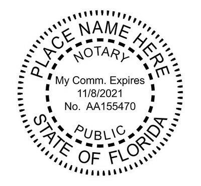 State of Florida| Custom Round Self-Inkin Notary Public Stamp Ideal 400R