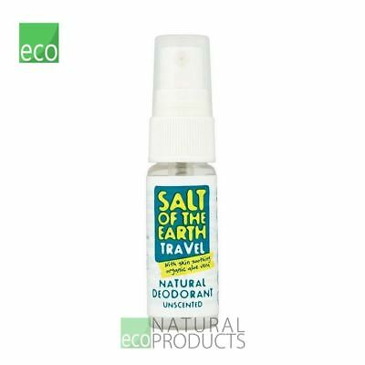 Salt of the Earth Travel Natural Deodorant with Organic Aloe Vera Unscented 20ml