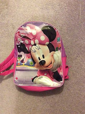 "Minnie Mouse School Backpack 15"" -16"" Pink & Purple Girls Disney"