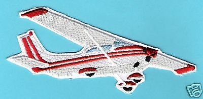 CESSNA 172 Airplane Aircraft Aviation Collectable Embroidered Patch Red White