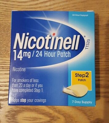 Nicotinell 14mg 24 Hour Patch - Step 2 Patch - 7 Day Supply