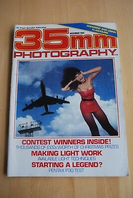 Vintage 35mm PHOTOGRAPHY Magazine December 1985 in colour