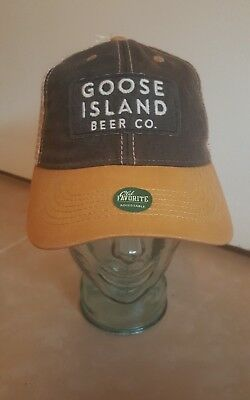 Goose Island Beer Co. Adjustable Trucker Hat Legacy NWT