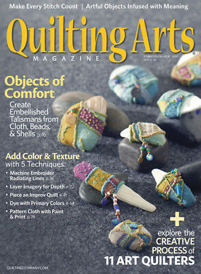 Quilting Arts Magazine February/March 2018