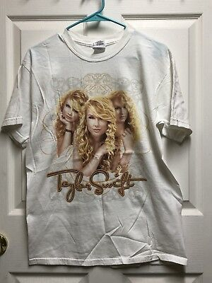 Taylor Swift Tour Concert White T-Shirt Official Licensed Medium FREE SHIPPING!!