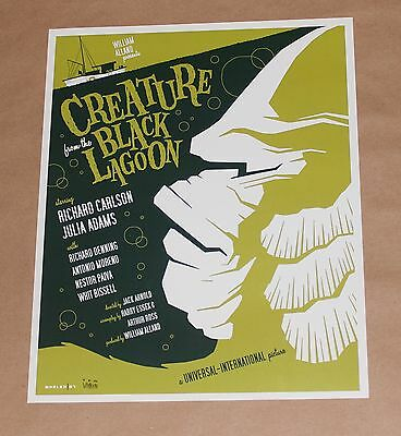 Creature from the Black Lagoon Tom Whalen Universal Monsters Giclee Print Poster