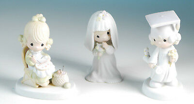 Set of 3 Precious Moments Mother so dear/The Lord Bless you/ Bride