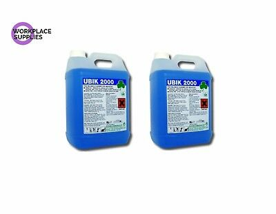 Clover Ubik 2000 2x5Ltr Heavy Duty Universal Cleaner Concentrate Degreaser 10Ltr