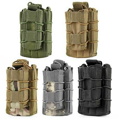 Tactical Hunting Molle Double Pouches Waist Bag Decker Rifle Pistol Magazine