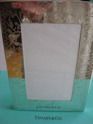 Tiffany Sterling Silver ~ New ~ Audubon Picture Frame 5 X 7 ~Etched & Embossed!!