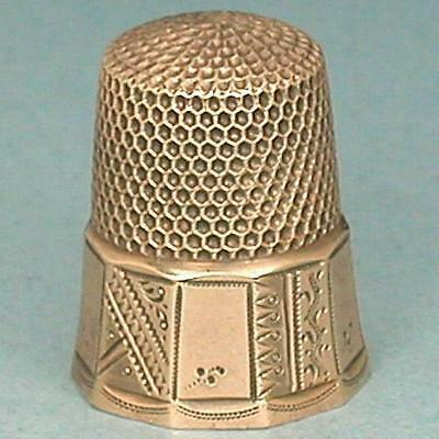 Antique 10 Kt Gold Thimble by Ketcham & McDougall * Circa 1890