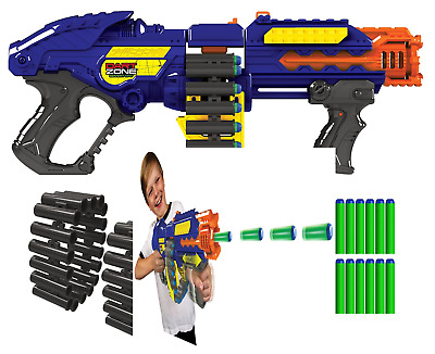 Zombie Blaster Gun Strike Rapid Fire Foam Soft Bullets Kids Toy Darts Nerf Gift
