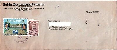 Commercial Cover with Stamps Philippines to Australia 1974