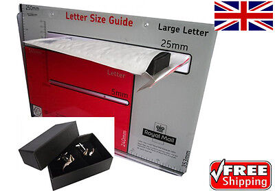 Large Letter Sized Cufflinks or Gift Boxes 24 mm Thick 1 - 200 Wholesale Prices!