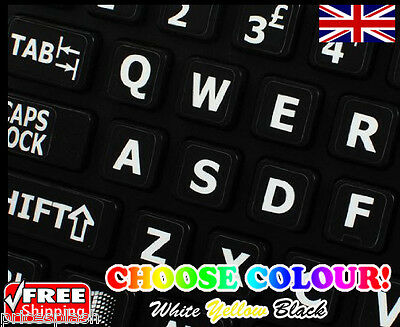 ENGLISH US LARGE LETTER KEYBOARD STICKERS for Computer or