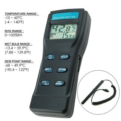 8723 Digital Air Thermo-Hygrometer Psychrometer Thermometer