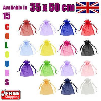 35 x 50 cm Organza Gift Pouch Wedding Favour Bags Jewellery Pouch in 15 Colours!