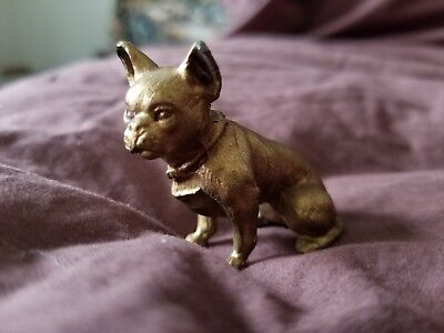 Vintage Cast Metal Boston Terrier Dog Figurine 1 5/8""