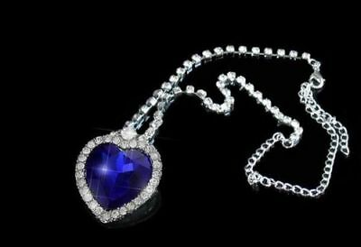 Titanic Heart Of The Ocean Necklace Crystal Valentines Day Romantic Gift