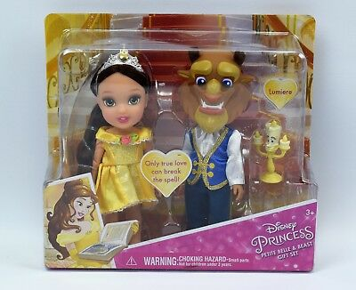 Disney Princess Beauty And The Beast Gift Set Toddler Dolls With Lumiere NEW