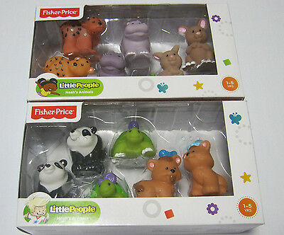 Fisher Price Little People Noahs animals 2 boxes Kids Toddler toys rare