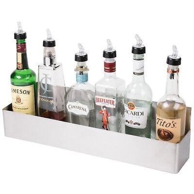 "Bar Speed Rail Liquor Display Rack 24"" Stainless Steel Single"