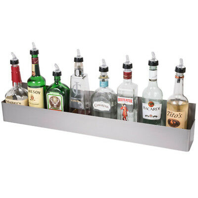 "Bar Speed Rail Liquor Display Rack 36"" Stainless Steel Single"