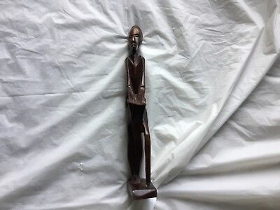 Collectible Wooden African Statue Folk Art Carved