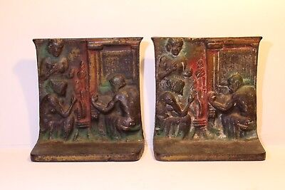 Vintage Cast Iron Blacksmith Bookends