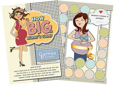 How Big Is Mummy's Tummy Baby Shower Party Game Measure Bump Girl Boy Unisex