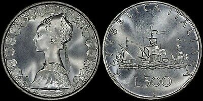 Italy 500 Lire 1969-R Silver (Prooflike) *premium Quality*