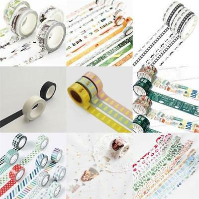 Vintage Washi Tape Self Adhesive DIY Scrapbooking Paper Stickers Decorative ~