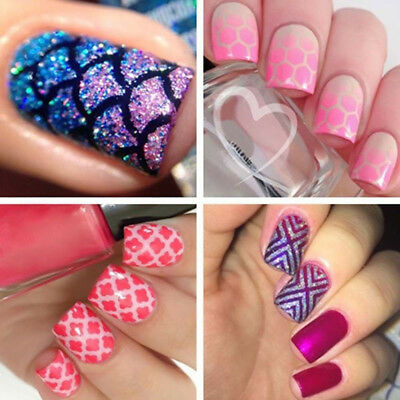 Stamping Template Transfer Manicure Laser Stickers 24pcs/set Hollow Art Nail