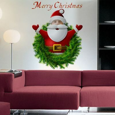 Hot Sale Merry Christmas Window Decoration Home Decal Santa Claus Wall Sticker