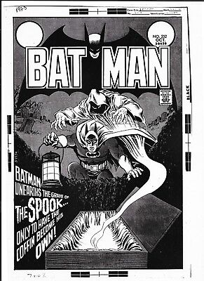 BATMAN # 252 COVER Production Art Acetate, ART BY NICK CARDY