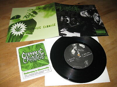 "CEPHALIC CARNAGE/IMPALED Split 7"" EP 1999 Headfucker 