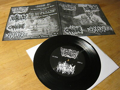 "PULMONARY FIBROSIS / FECALIZER / CANNIBE / OLOCAUSTO Split 7"" EP Ltd. 250"