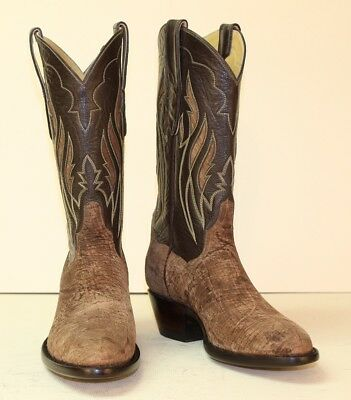 rock-bottom price outlet store sale united kingdom HANDMADE CUSTOM COWBOY Boots Adobe Hippo with Hippo Inlays ...