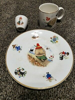 Arklow Republic Of Ireland Ironstone Humpty Dumpty Cup Saucer Plate & Eggcup