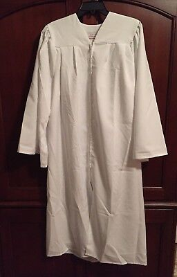 """Rose Therese Church Choir Graduation Confirmation Gown 5'3"""" to 5'5"""" White Matte"""