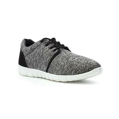 Mens Trainer Lightweight Lace Up Trainer in Grey Marl by Podium