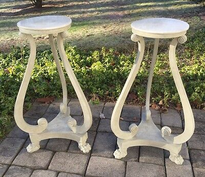 Antique Stands with Marble Tops