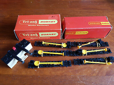 Hornby Hydraulic Buffer Stop + Uncouplers X 6 Excellent Cond Boxed Oo Gauge(Ch8)