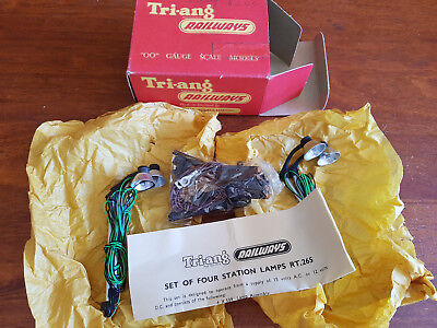 Triang Rt265 Station Lamps X 4 Original Pack Excellent Cond Boxed Oo Gauge(Ch26)