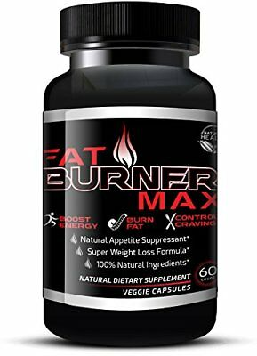 Fat Burner Max - Natural Appetite Suppressant &amp  Muscle Preserving Diet P...