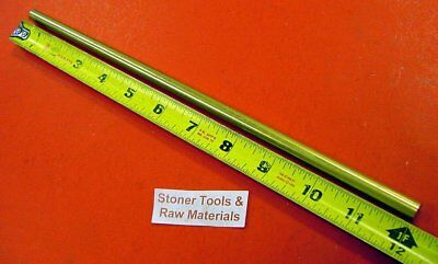 """3/8"""" C360 BRASS SOLID ROUND ROD 12"""" long H02 New Lathe Bar Stock .375"""""""