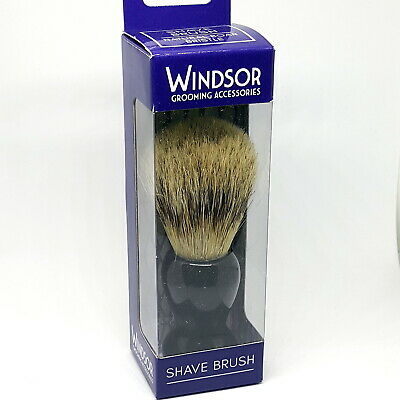 Windsor Wet Shave Shaving Brush Pure Boar Bristle For Men | Black Handle